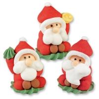 24 pz Babbo Natale in zucchero
