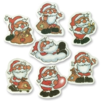 100 pz Babbo Natale da decoro