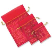 Sacchettini di raso rosso, vuoti