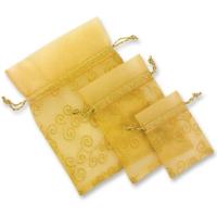 Sacchettini di raso oro, vuoti