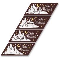 48 pz Strisce  Buon Natale  al cioccolato