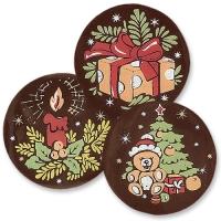 240 pz Placche  Natale  al cioccolato, ass.