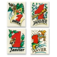 "Placche di decoro "" 1er Janvier"", ass."
