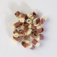 Riccioli cioccolato latte e bianco