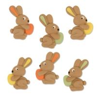 48 Conigli di zucch. piatti