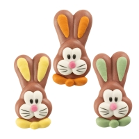 Teste di conigli, grandi, piatti