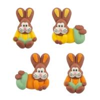 48 pz Conigli di zucch. piatti