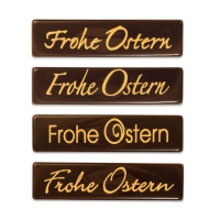 96 pz Placchetta  Frohe Ostern , cioccolato fondente