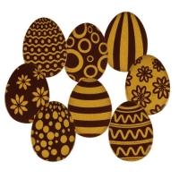 96 pz Ovetto di Pasqua, oro, cioccolato bianco, ass.