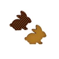 96 pz Coniglietti di Pasqua, oro, cioccolato fondente