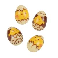 30 pz Ovetti di Pasqua in 3D, cioccolato bianco, assortiti