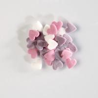 Decori da spargere in zucchero, cuori, colori assortiti