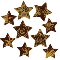136 pz Stelle di Natale oro, cioccolato fondente