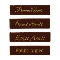 """96 pz Placchetta """"Bonne Année"""", cioccolato fondente"""