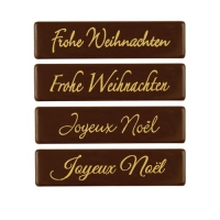 128 pz Placchetta  Frohe Weihnachten , cioccolato fondente