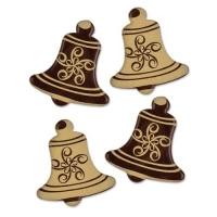 108 pz Campane dorate, cioccolato fondente, assortite