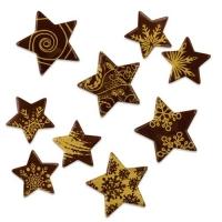 136 pz Stelle di Natale, cioccolato fondente