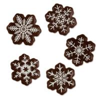 160 pz Fiocchi neve di cioccolato fondente, assortiti