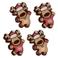 96 pz Alce natalizia di cioccolato fondente