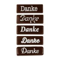 140 pz cioccolato fondente Placchetta  Danke ,