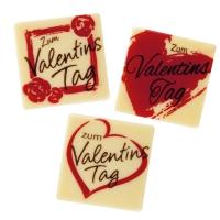 "Quadrati ""Zum Valentinstag"", cioccolato bianco, ass."