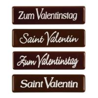 96 pz Placchetta  Zum Valentinstag , cioccolato fondente