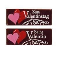 48 pz Placchetta  Zum Valentinstag  cioccolato fondente, ass.