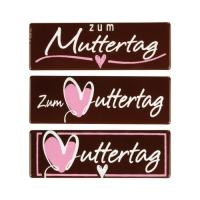 """Placchetta """"Zum Muttertag"""", cioccolato fondente, ass."""