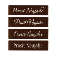96 pz Placchetta Prosit Neujahr, cioccolato fondente