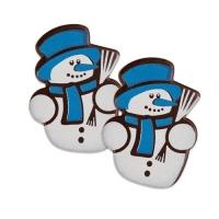 112 pz Pupazzo di neve blu, di cioccolato fondente
