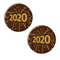 160 pz Placchetta 2020, cioccolato fondente