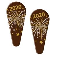 72 pz Placca 2020, cioccolato fondente