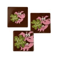 105 pz Maialini portafortuna di cioccolato fondente, assort.