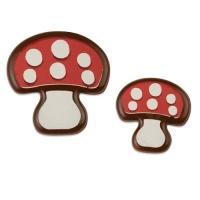 154 pz Funghi portafortuna di ciocc. fond., grandi e piccoli,