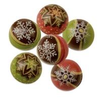 30 pz Palle Natale, 3D al cioccolato fondente