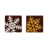140 pz Quadrato Fiocchi neve    cioccolato fondente, ass.