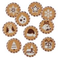 160 pz Placca Natale, copertura binaca con caramello, ass.