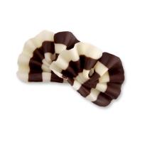 Ventagli di cioccolata fondente& bianco