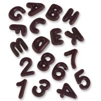 410 pz Lettere & numeri al cioccolato nero