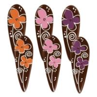 90 pz Fiore con gambo, cioccolato fondente