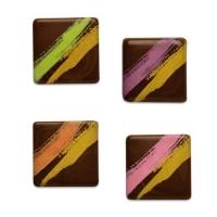 240 pz Quadrati,cioccolato fondente, assortiti