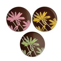 120 pz Placca fiori, cioccolato fondente, assortite