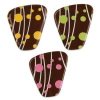 Placca macchie, cioccolato fondente assortite