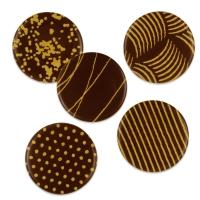 Placca dorata cioccolato fondente, assortite