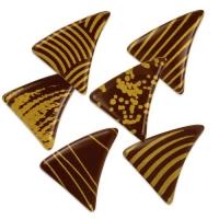 Triangolo piccolo dorato, cioccolato fond,ente, assortiti