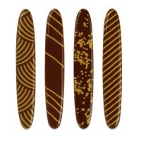 160 pz Decorazioni dorate, cioccolato fondente, assortite