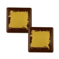 105 pz Quadrato dorato, cioccolato fondente.