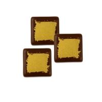 240 pz Quadrato dorato piccolo, cioccolato fondente.