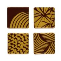 240 pz Quadrato dorato, cioccolato fondente, assortiti