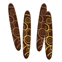 160 pz Decorazioni, cioccolato fondente, assortite